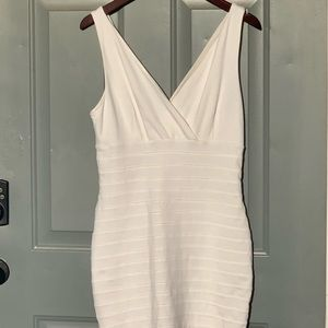 Express white fitted dress in size medium